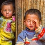 Dirty rural children. Laos Stock Image