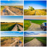 Dirty rural road in countryside Stock Images