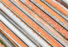 Dirty and rusty  old pipes stack background Stock Photography