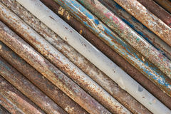 Dirty and rusty old pipes stack texture Stock Photography