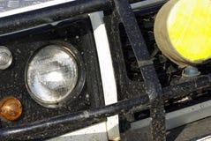 Dirty safari off-road car detail. Image of a dirty safari off-road car detail Stock Images