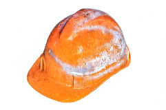 Dirty safety helmet Royalty Free Stock Photography
