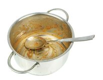 A dirty saucepan Royalty Free Stock Images