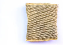 Dirty scourer on white background. Dirty scourer on a white background Stock Images