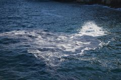 Dirty sea at Menorca Royalty Free Stock Photography