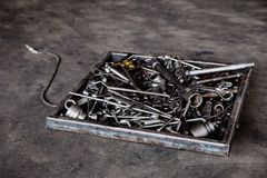 Workbench, Auto Repair Shop, Work Tool, Car, Garage royalty free stock images