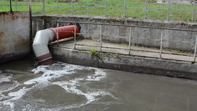 Dirty sewage water tube stock footage