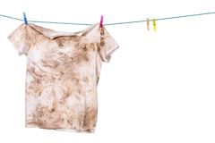Dirty shirt. Hanging to dry Stock Photography