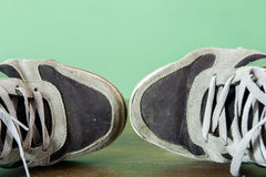 Dirty shoes Stock Image