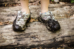 Dirty shoes Royalty Free Stock Photo