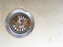 Dirty Sink Plug Hole Royalty Free Stock Photos