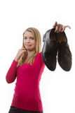 Dirty Smelly shoes Stock Photography