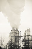 Dirty smoke and pollution produced factory Stock Image