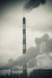 Dirty smoke produced by chemical factory Royalty Free Stock Photos