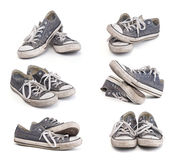 Dirty sneakers set Stock Image