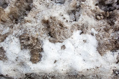 Dirty Snow Background Stock Photo