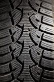 Dirty Snow Tire Royalty Free Stock Photo