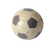 Dirty soccer ball. On white background Stock Photo