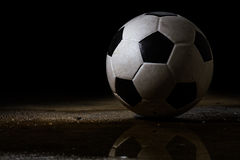 Dirty Soccer Ball Royalty Free Stock Photo