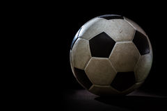 dirty soccer ball Stock Image