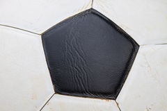 Dirty soccer ball Royalty Free Stock Images