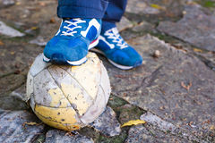 Dirty Soccer ball Stock Images