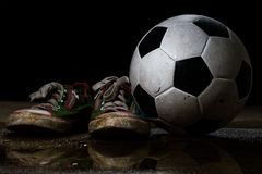 dirty soccer ball Royalty Free Stock Photography