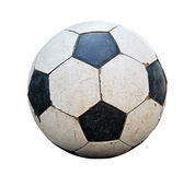 Dirty soccer ball on white background. Stock Photography