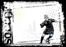 Dirty soccer horizontal background Royalty Free Stock Images
