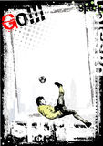Dirty soccer poster background 5 Royalty Free Stock Photos