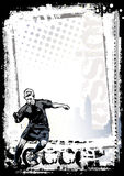 Dirty soccer vertical background Stock Photos