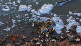 Dirty Spoiled Riverbanks Of Ganga in Varanasi, India - Close up