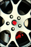 Dirty Sport Car Wheel Royalty Free Stock Photos