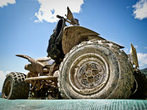 Dirty sports All-terrain Vehicle Royalty Free Stock Image