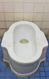 Dirty  squat type toilet Royalty Free Stock Photography