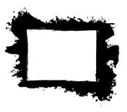 Dirty, stained paint stroke grunge rectangle frame Royalty Free Stock Images