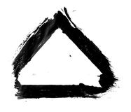 Dirty, stained paint stroke grunge triangle frame Royalty Free Stock Photo