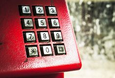 Dirty stains on dialing telephone keypad Royalty Free Stock Images