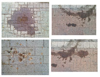 Dirty stains on the setts Stock Images
