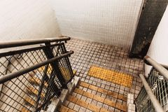 Dirty Stair in old building unhygine Stock Photo
