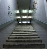 Dirty stairs in city. The dirty stairs in city Royalty Free Stock Photos