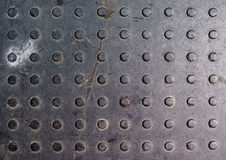 Dirty Steel Tread Plate/checkered Plate Texture Royalty Free Stock Image