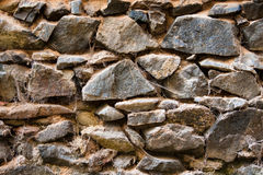 Dirty stone wall with old. Several stones in a wall, full of dirt and webs royalty free stock images