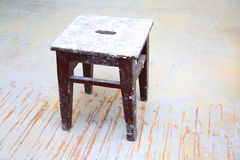 Dirty stool in room Stock Photography