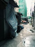 Dirty Street. In Hong Kong Royalty Free Stock Images