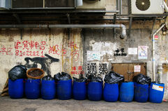 Dirty street in Hong Kong Royalty Free Stock Image