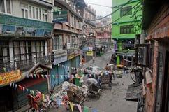 Dirty Streets of Kathmandu Royalty Free Stock Photo