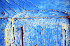 dirty stripped paint in the blue gold Stock Photo
