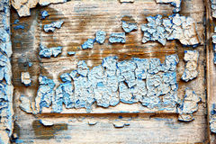 Dirty stripped paint in the blue wet Royalty Free Stock Photos