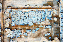 dirty stripped paint   the blue wet Stock Images